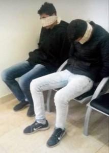 صورة للطالبين في مخفر شرطة معالي ادوميم