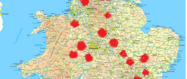 2019-20 visit map